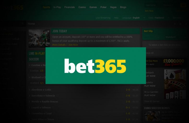 Bet365 Sportsbook Free Bet & Review