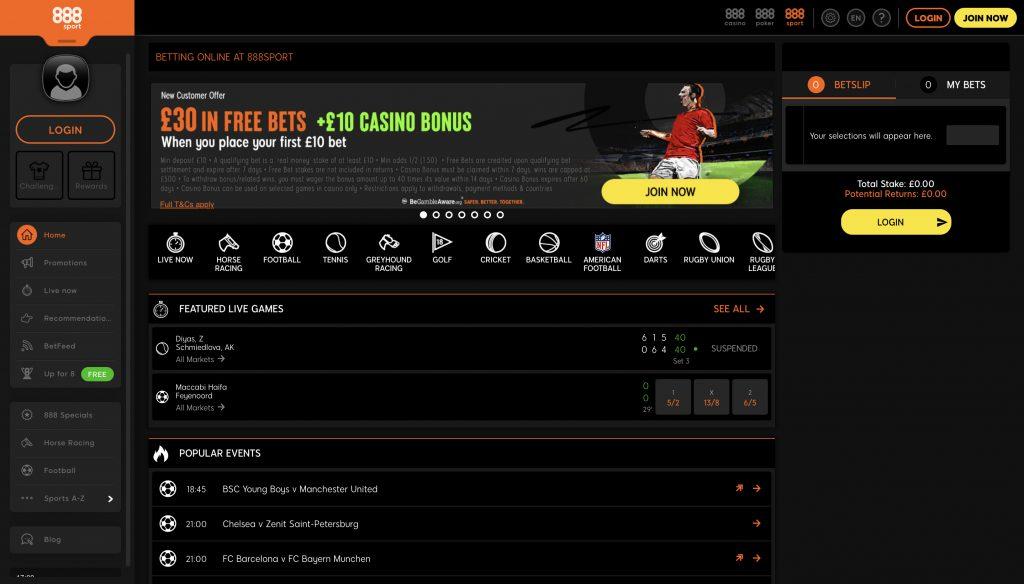 888sport betting website