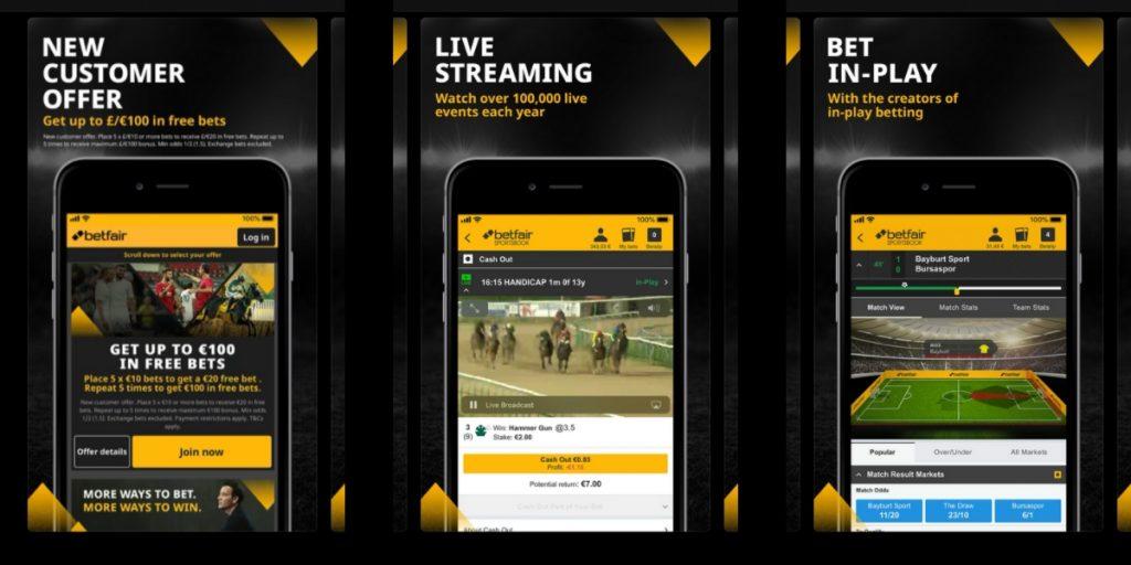 Betfair betting app