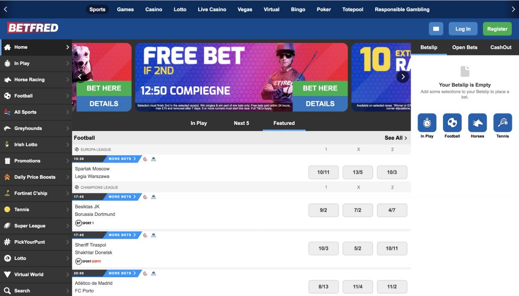 Betfred betting website
