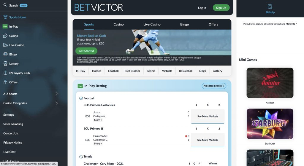 Betvictor betting website