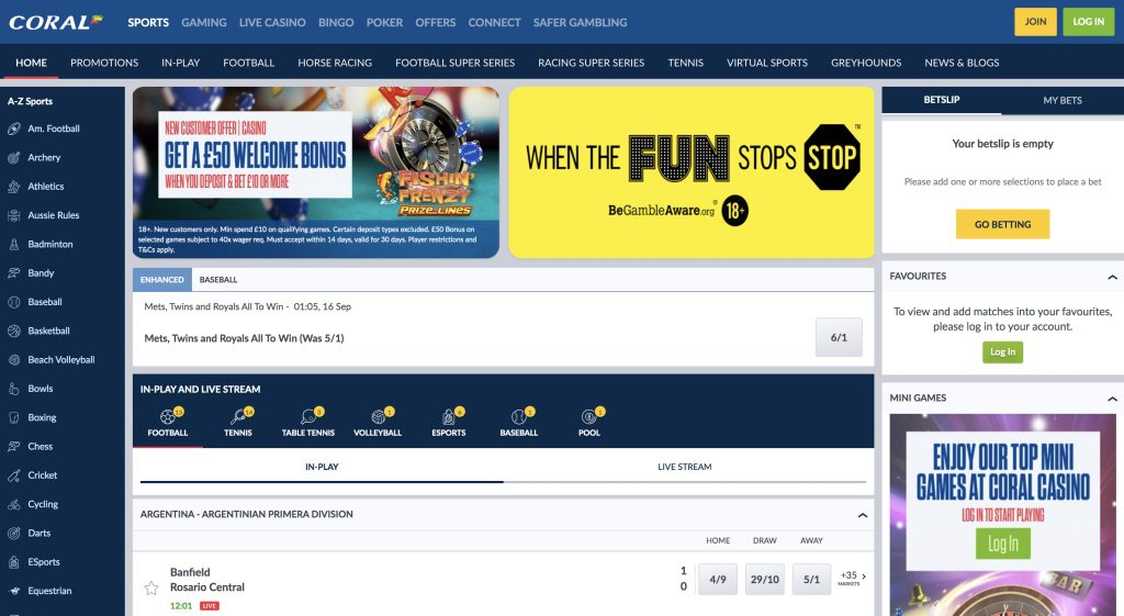 Coral betting website