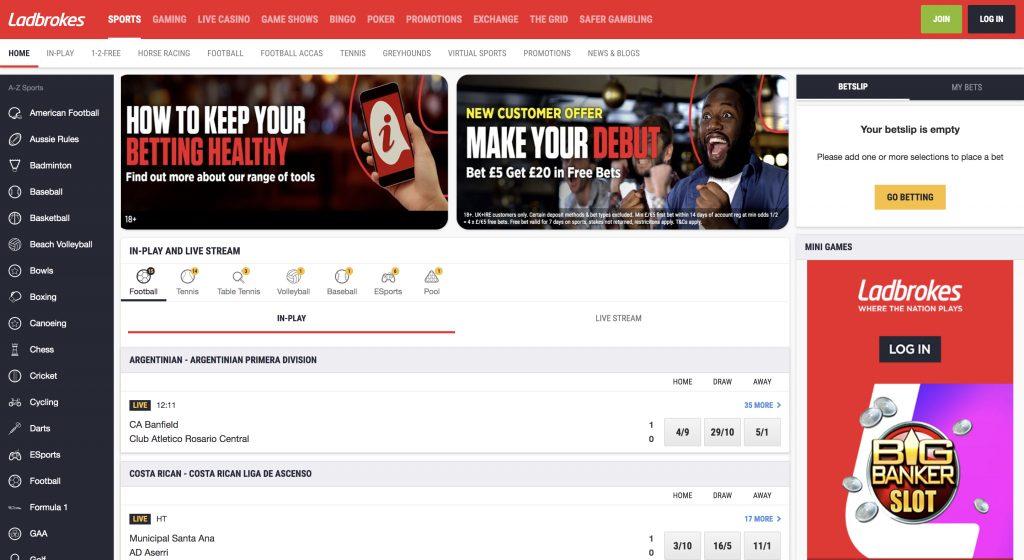 Ladbrokes betting website