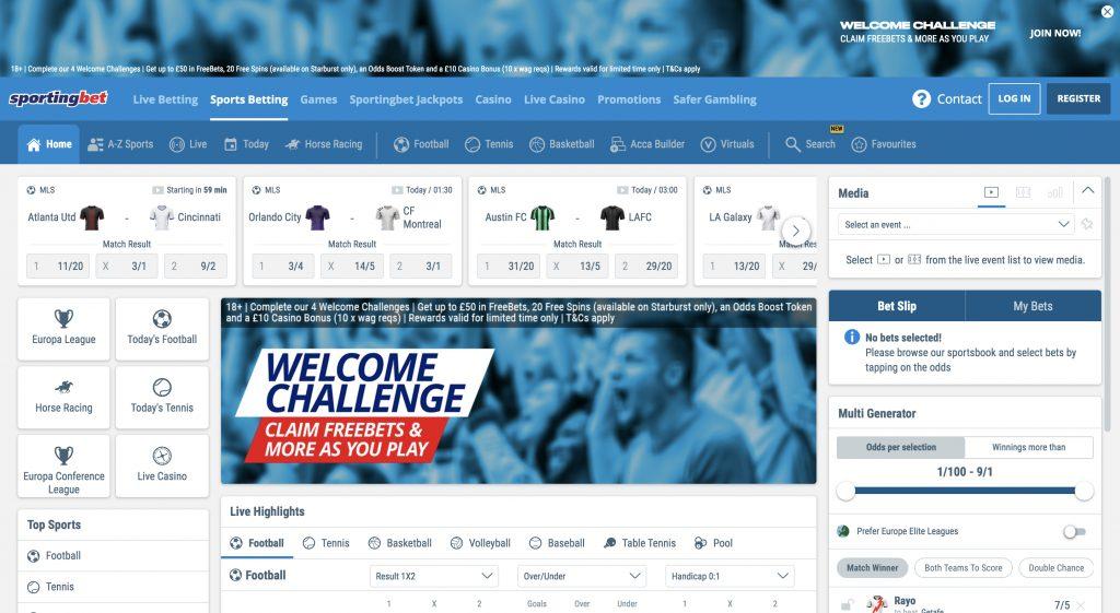 Sportingbet betting website