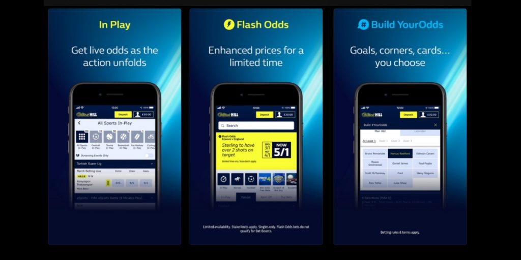 William Hill betting app images